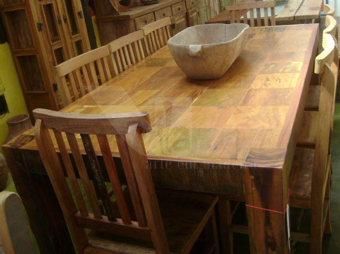Mesas em madeira demoli??o Vilarte M?veis Rusticos em Madeira de ...